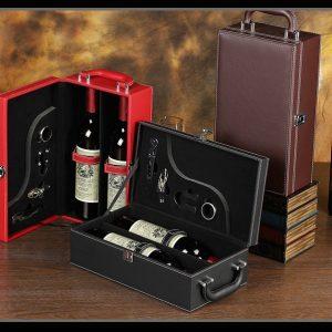 Hộp rượu da - Hộp phụ kiện rượu
