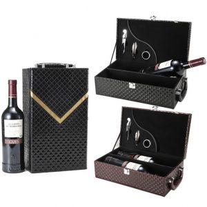 hộp da đựng rượu vang